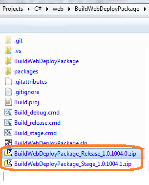 How to build and deploy a web deployment package using